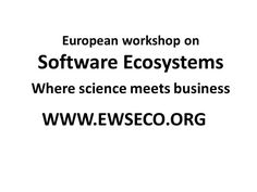 """Call for papers FOR EWSECO 2017  We would like to invite European researchers and practitioners in the field of software ecosystem and business networks to come together in Darmstadt Germany on November 23th 2017 to discuss their recent (academic) research insights or issues related to management of ecosystems business models or technical issues including but not limited to topics like      """"What are the business and engagement models of business networks and how are they managed?""""     """"What…"""