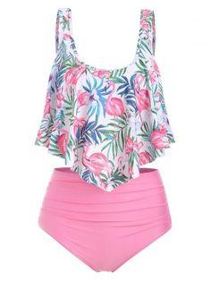 Buy Flamingo Print High Waist Tankini Set for Women at Wish - Shopping Made Fun Cute Swimsuits, Women Swimsuits, Best Cotton Underwear, Style Surfer, Set Fashion, Fashion Vest, Fashion Site, Plus Size Swimwear, Women's Swimwear