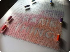 String art has become very popular lately and it now takes all sorts of forms. It ranges from simple designs like monograms to more complex creations like