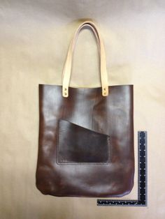 The Man Tote. Huge and made of thick 6/7oz Horween Chromexcel leather. www.440gentlemansupply.com
