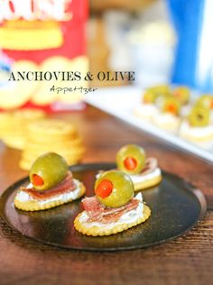 Anchovies and Olive