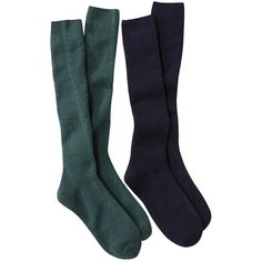 Merona Women's 2-Pack Knee High Cable Boot Socks - Assorted Colors ($10) ❤ liked on Polyvore featuring intimates, hosiery, socks, accessories, shoes, socks and tights, green, socks & hosiery, women's accessories and knee hi socks