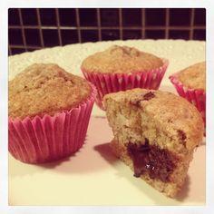 Banana / Cinnamon Muffins with 70% chocolate. Great combo!
