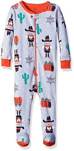 Petit Lem Baby Girls Cowboy Footed Pajamas SheriffStar 12M >>> You can find more details by visiting the image link. (This is an affiliate link)