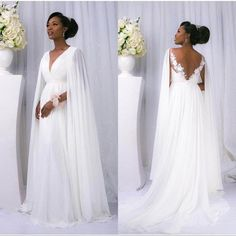 062132e85fc5 Discount South African Vintage White Chiffon Beach Wedding Dresses Sexy V Neck  Pleats Appliques Backless Cheap Wedding Dress Nigerian Bridal Dresses Lace  ...