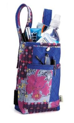 Juvo Products CPU01 Crutch Purse, Multi-Color by Juvo. $24.95. Universal fit to any standard crutch. Vertical straps will fit over existing hand pads or under existing underarm pads. Two height adjustments. Purse dimensions: 8? h x 5? w x 2? d. Two side straps included - wrap around crutch uprights will keep purse from swaying while walking; quick-access pocket on front panel and large main compartment; hand washable material. More room for the things you need.  thi...