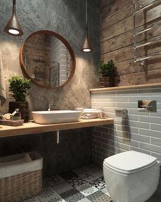 Basement Toilet, Basement Bathroom Ideas, Cool Bathroom Ideas, Budget Bathroom, Luxury Bathtub, Bathroom Luxury, Boho Bathroom, Bathroom Small, Bathroom Inspo