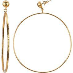 Gurhan Women's Geo 24k Yellow Gold Earrings (367568301) (€1.615) ❤ liked on Polyvore featuring jewelry, earrings, multiple colors, holiday earrings, tri color gold earrings, hammered hoop earrings, hoop earrings and yellow gold earrings