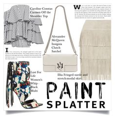 """Make a Splash With Paint Splatters"" by martso ❤ liked on Polyvore featuring Caroline Constas, Lust For Life, Alexander McQueen, Illia, contest, paintsplatter, contestentry and fashionset"