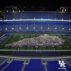 This is a picture from KWeek as a freshman that they do every year when you first arrive. Why is this tradition so important to the University? What does this image symbolize for incoming freshman and the staff at the University? University Of Kentucky Football, Uk Football, Football Stadiums, Football Field, Wildcats Basketball, Kentucky Basketball, Go Big Blue, Class Pictures, My Old Kentucky Home