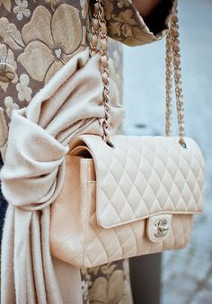 Dream Day! Just got my very first classic flap 2.55 Chanel white handbag complete with Mademoiselle clasp, secret lover letter pocket, scarlet red leather interior and lipstick pouch. A dream come true!