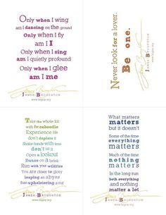 FREE printable James Broughton poem postcards from Big Joy
