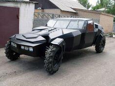 The Black Crow Homemade Car From Kazakhstan | Car Humor