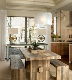 Wooden table country style home