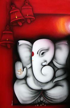 artist: Prakash K. Ganesha Drawing, Lord Ganesha Paintings, Ganesha Art, Krishna Art, Ganesh Tattoo, Ganpati Drawing, Rangoli Ideas, Rangoli Designs Diwali, Hindus