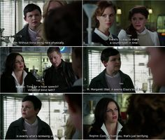 """""""Well, it seems Elsa blind faith is exactly what's screwing us right now."""" Mary Margaret, """"Coming from you, that's just terrifying."""" Regina, Belle, Blue, Emma and David - 4* 9 """"The Fall.""""#ShatteredSight #OnceisFrozen"""