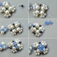 Detailed Tutorial on How to Make an Exquisite Pearl Bead Flower Pendant Necklace: Searching for pearl necklace designs? Today we'd like to share you a very exquisite pearl bead flower pendant necklace, I bet you'll like the design. Pearl Necklace Designs, Bead Jewellery, Craft Jewelry, Jewelry Storage, Jewelry Necklaces, Jewelry Making, Necklace Tutorial, Evil Eye Necklace, Beaded Jewelry Patterns
