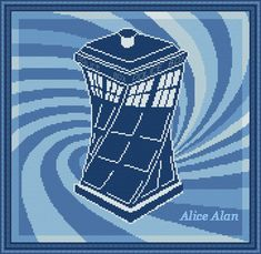 Cross Stitch Pattern TARDIS Doctor Who Police Box Time Machine designed by me, so you have a unique opportunity to get an exclusive product. Counted Cross Stitch Patterns, Cross Stitch Designs, Cross Stitch Embroidery, Beading Patterns, Crochet Patterns, Cross Stitch Boards, Tardis, Cross Stitching, Doctor Who