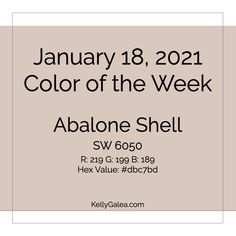 Your Color of the Week and energy reading for the week of January 18, 2021. Allow this week to serve as a reminder: It is often through slight shifts that we experience great enhancements and results.