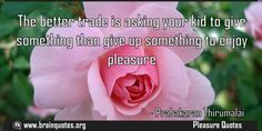 The better trade is asking your kid to give something than give up something to enjoy pleasure