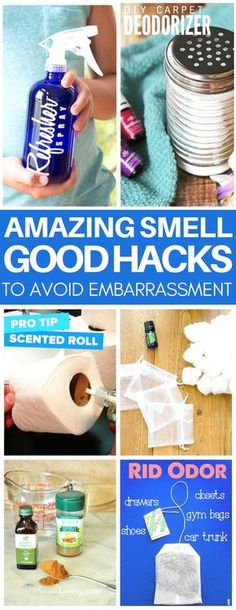 These tricks to make your home smell good are genius! They are so cheap & easy too like the secret for using essential oils in your toilet paper roll or how to make the best DIY carpet deodorizer.