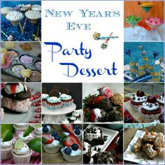 New Year's Eve Party Desserts:: HoosierHomemade.com....kids/family new years eve party !!yummy ideas