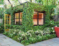 This lush, green cube is a dream artist's studio hidden in a San Francisco garden