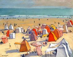 colin-vian: La Playa de arena a Olonne - Albert Marquet (1938)