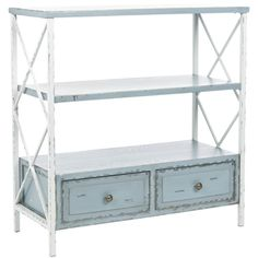 Safavieh Saffron Pale Blue Storage Console Table | Overstock.com Shopping - The Best Deals on Coffee, Sofa & End Tables