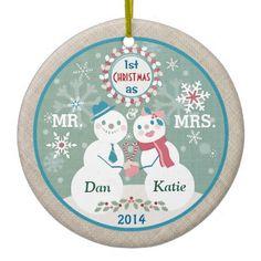 #Custom Text #Snowman #Couples #FirstChristmas #christmas