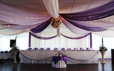 I will have a  canopy ceiling at my wedding.