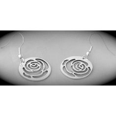 Rose Sillouhette Earrings for R300.00