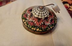 1:12 Scale Vintage Artisan Kummerow Floral Hanging Lamp RARE OOAK