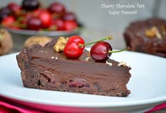 Tart cherries, chocolate cream and amaretto
