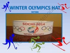 Winter Olympics Hat Pattern from FunTeach on TeachersNotebook.com -  (2 pages)  - Support the U.S in the 2014 Olympics