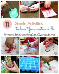 10 fine motor activities for preschoolers - Teaching 2 and 3 Year Olds