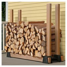 Found it at Wayfair - Lumber Rack Firewood Bracket Kit