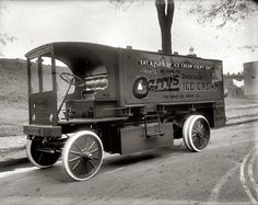 Vintage ice cream truck, Washington, DC, 1920