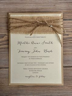 Rustic Country Burlap Wedding Invitations With Laser Cut Wood Love Birds 4lovepolkadots Weddings Pinterest And