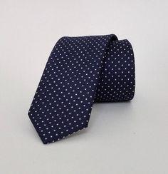 Dark Blue Necktie, Dark Blue Men's Tie, Dark Blue Cravat, Dark Blue Tie - DK323 #handmadeatamazon #nazodesign