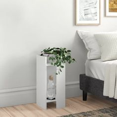 Zipcode Design Nikki Bedside Table & Reviews | Wayfair.co.uk Slim Bedside Table, Floating Nightstand, Floating Shelves, Narrow Bedside Cabinets, Low Shelves, Küchen Design, Entryway Bench, Cleaning Wipes, Table Settings
