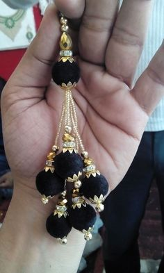 Discover thousands of images about Golden latkans Available at FB: Magenta Collections WhatsApp to order Silk Thread Earrings, Thread Bangles, Thread Jewellery, Beaded Earrings, Saree Tassels Designs, Rakhi Design, Traditional Indian Jewellery, Ethnic Wear Designer, Women's Accessories