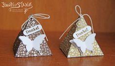 Pyramide Verpackung Schmetterling stampin up designerpapier