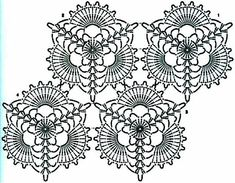 - Her Crochet - Diy Crafts - Qoster Crochet Motif Patterns, Crochet Doily Diagram, Crochet Vest Pattern, Crochet Triangle, Crochet Collar, Tatting Patterns, Crochet Chart, Crochet Squares, Thread Crochet