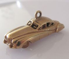 9ct Gold Jaguar Vintage Car Moving Charm by TrueVintageCharms on Etsy