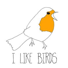 i like birds line drawing Etsy Illustration by memorieswarehouse