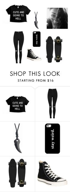 """Untitled #111"" by darksoul7 on Polyvore featuring Topshop, Casetify, Retrò and Converse"
