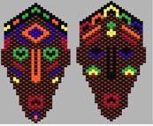 African Masks, Peyote Beading Pattern by Sigrid Wynne-Evans at Bead-Patterns.com
