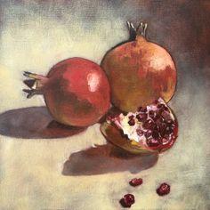 Oil on canvas - Susan Slump Pomegranate, Oil On Canvas, My Arts, Fruit, Granada, Pomegranates