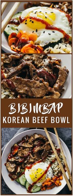 bibimbap | korean beef bowl | korean rice bowl | bibimbap sauce | bibimbap bowl | how to eat bibimbap | korean beef marinade | easy recipe | asian beef | asian bowl | spicy | sponsored #riceonthego via /savory_tooth/